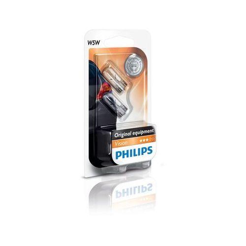 Philips Zestaw 2x żarówka samochodowa vision 12961b2 w5w w2,1x9,5d/5w/12v (8711500404213)