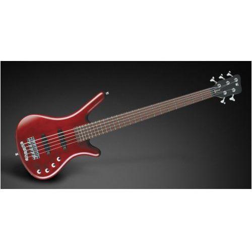 Rockbass corvette basic 5-str. burgundy red transparent satin, active, fretted gitara basowa
