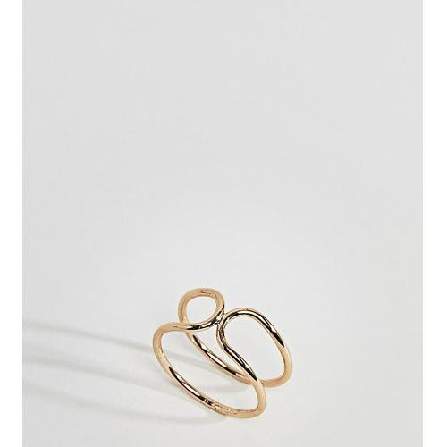 tapered end double row ring - gold marki Asos curve