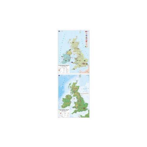 WIELKA BRYTANIA i IRLANDIA. Mapa Ścienna United Kingdom and Ireland (Wersja Anglojęzyczna). Skala 1 : 850 000, Nowa Era