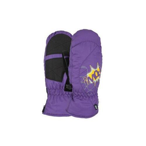 Pow Rękawice snowboardow - grom mitt purple (pu) rozmiar: j4