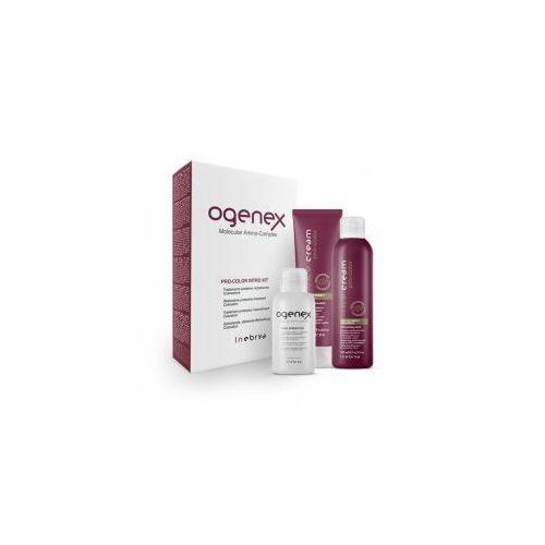 ogenex pro-color, zestaw odbudowujący do włosów farbowanych, 100+125+70ml marki Inebrya