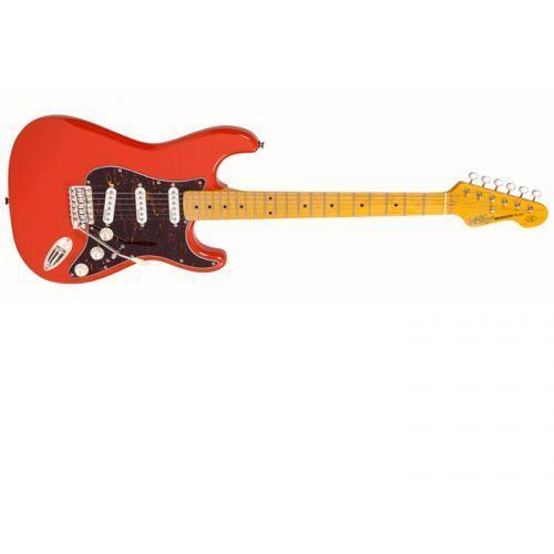 Vintage v6mfr gitara elektryczna, podstrunnica klonowa, fire
