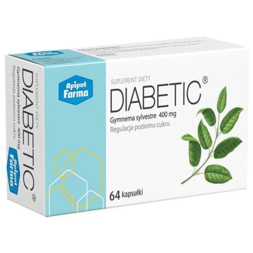 Diabetic Gymnema sylvestre 400mg Regulacja poziomu cukru 64 kapsułki Apipol Farma (5903780032016)