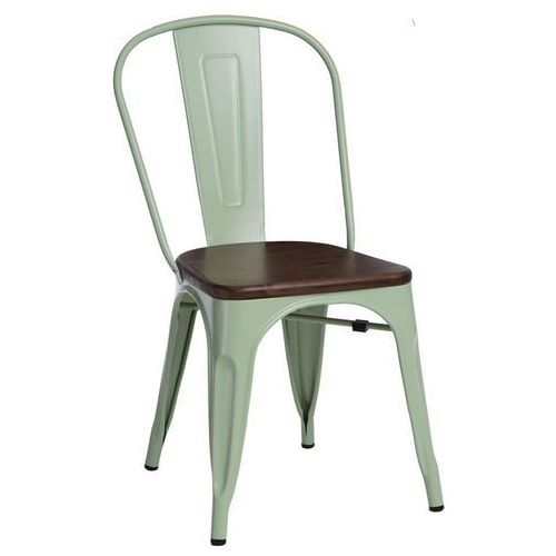 Krzesło paris wood sosna szczotkowana orzech insp. tolix marki D2