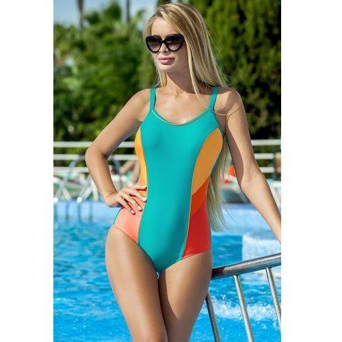 0d01813be2b76c Jednoczęściowy strój kąpielowy Kostium Jednoczęściowy Model Perla  Seledyn/Orange - Ewlon, jednoczęściowy 90,74 zł Stylowy jednoczęściowy  kostium kąpielowy.