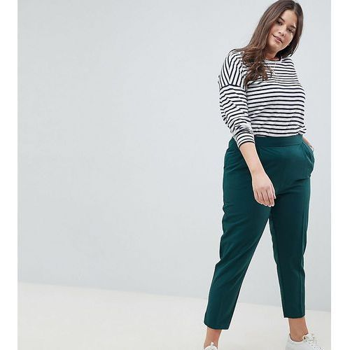 ASOS DESIGN Curve high waist tapered trousers - Green