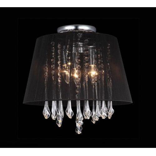 Plafon LAMPA sufitowa ISLA MXM1869-3 BL Italux abażurowa OPRAWA kryształowa glamour crystal czarna, MXM1869-3 BL