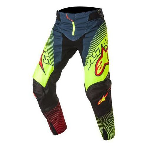 SPODNIE ALPINESTARS TECHSTAR FACTORY S7 PE/YE FL/RED
