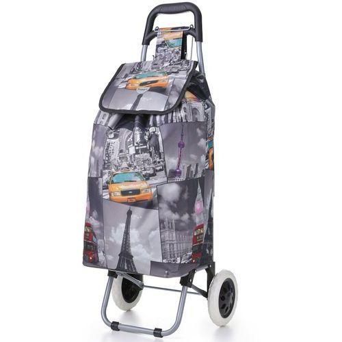 Wózek na zakupy na kółkach Hoppa ST-325, szary, wózek na zakupy REAbags