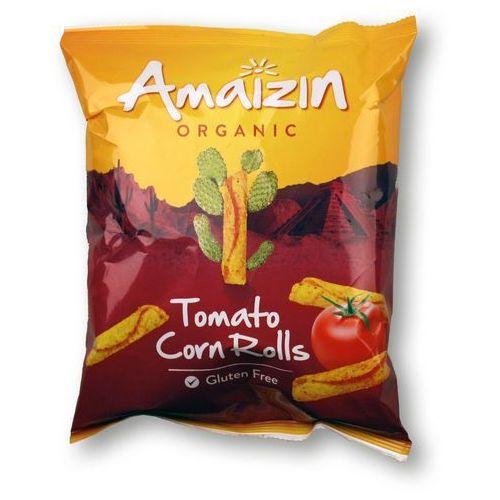 Amaizin Chipsy kukurydziane rolls o smau pomidorowym bio bezgluten 100g