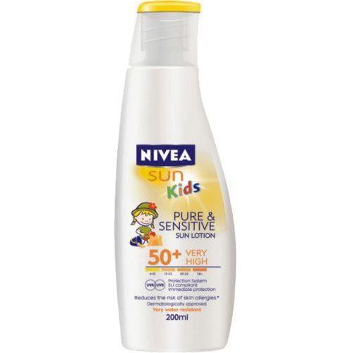 Pure&Sensitive mleczko do opalania dla dzieci OF 50+ (200ml), produkt marki NIVEA Sun
