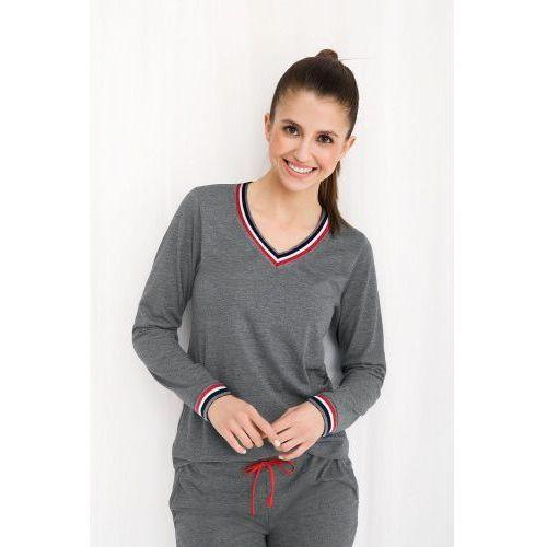 Bawełniana piżama damska LUNA 462 szara, kolor szary