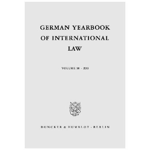 German Yearbook of International Law / Jahrbuch für Internationales Recht (9783428150618)