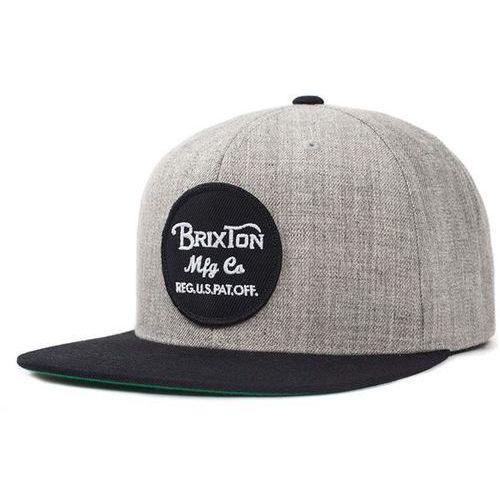 czapka z daszkiem BRIXTON - Wheeler Light Heather Grey/Black (0371) rozmiar: OS