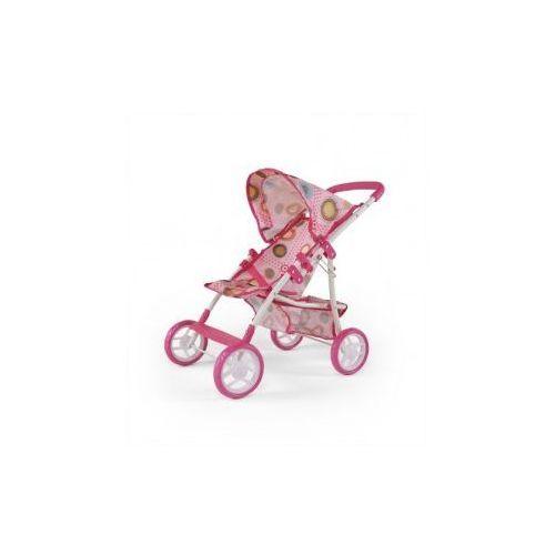 WÓZEK DLA LALEK NATALIA RÓŻOWO-BRĄZOWY #B1 - produkt z kategorii- wózki dla lalek