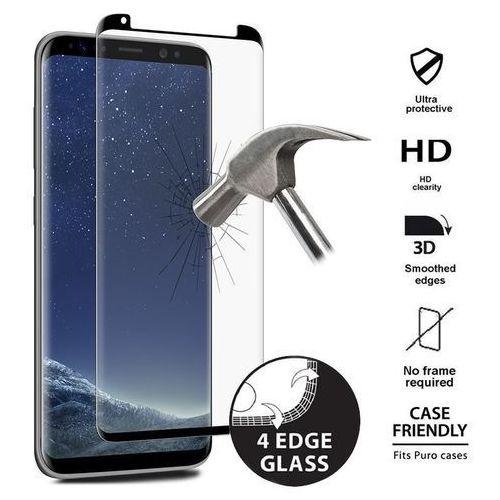 PURO Premium Full Edge Tempered Glass Case Friendly - Szkło ochronne hartowane na ekran Samsung Galaxy S8 (czarna ramka) - zastępuje SDGFSGALAXYS8TR (8033830193408)