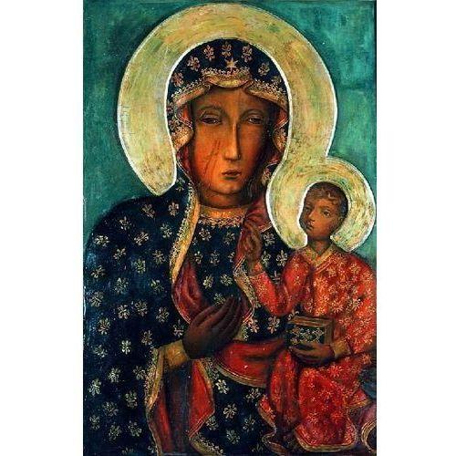 obraz Matki Boskiej Częstochowskiej Czarna Madonna ikona przedstawiająca Matkę Boską z Dzieciątkiem (obraz)