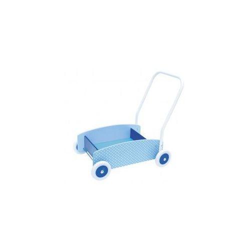 Drewniany chodzik, wózek -pchacz blue (chodzik klasyczny)