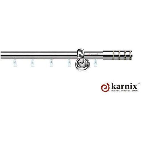 Karnisz szynowy ASPEN pojedynczy 19mm Rosetti Crystal INOX - produkt z kategorii- karnisze