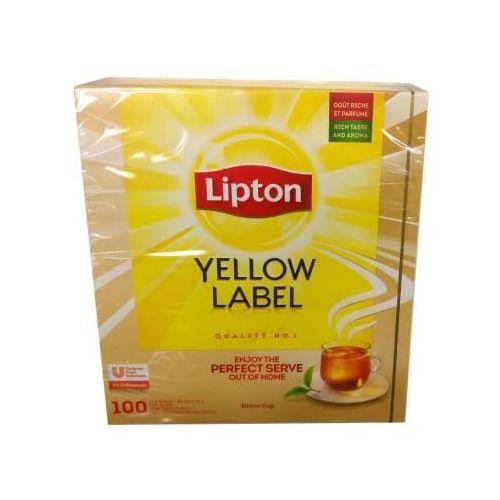 LIPTON 100 x 2g Yellow Label Herbata ekspresowa import
