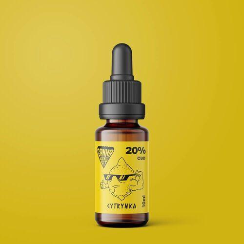 Olej CBD CannaBeFit 20% 2000mg 10ml Cytrynowy (5903968698058)