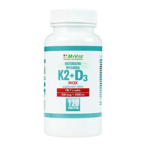 Witamina K2 MK-7 K2MK7 MAX 200mcg + D3 4000IU 120 tabletek MyVita (5906395684588)