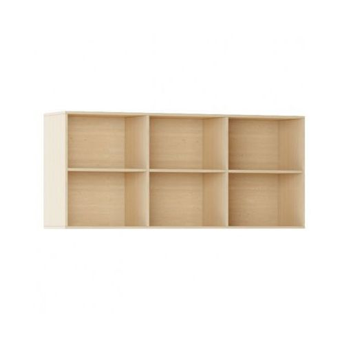 Biblioteka INTEGRO s półkami, wyższa, buk