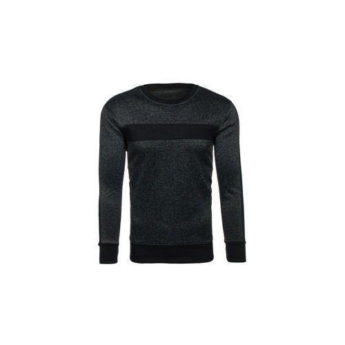 Bluza męska bez kaptura czarna Denley DD29