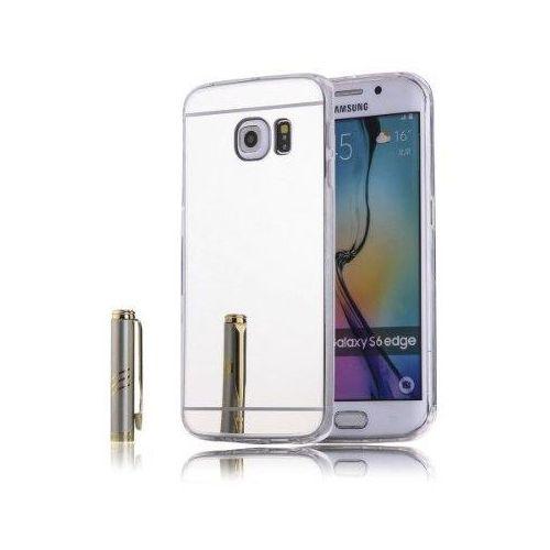 Slim mirror case srebrny   etui dla samsung galaxy s6 edge - srebrny