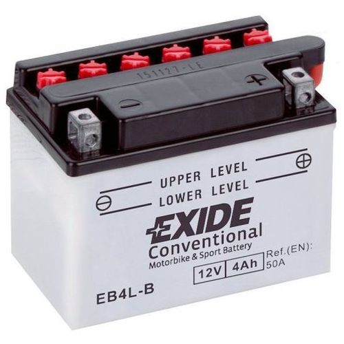 Exide Akumulator motocyklowy eb4l-b / yb4l-b 12v 4a 50en p+