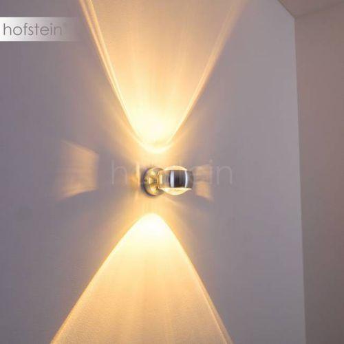 Hofstein Sapri lampa ścienna srebrny, 1-punktowy - lokum dla młodych/loft - obszar wewnętrzny - sapri - czas dostawy: od 3-6 dni roboczych (4260303166551)