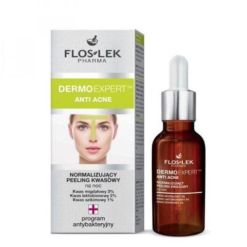 Floslek dermoexpert anti acne normalizujący peeling kwasowy na noc 30ml (5905043005409)