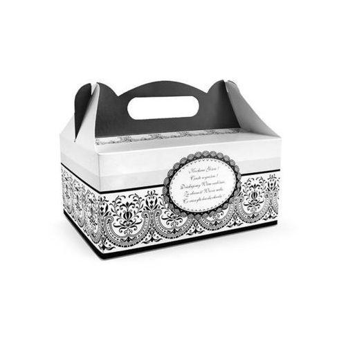 Ap Ozdobne pudełko na ciasto weselne 1sztuka