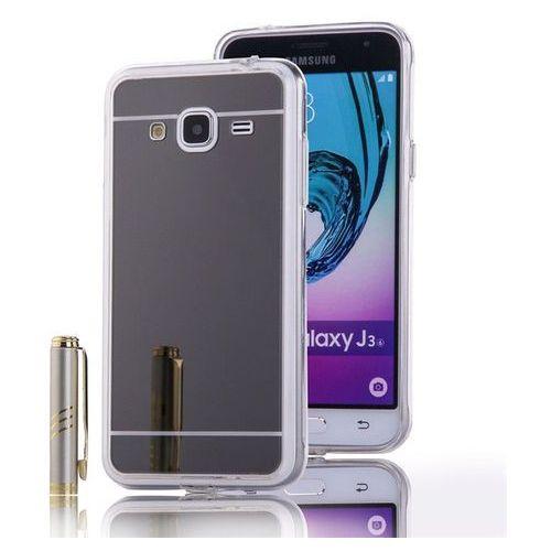 Slim Mirror Case Szary   Etui dla Samsung Galaxy J3 2016 - Szary, kolor Szary