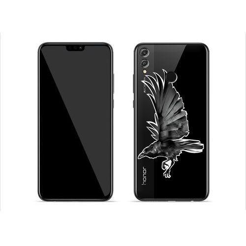 Huawei Honor 8X - etui na telefon Crystal Design - Czarny kruk, ETHW802CRDGDG053000