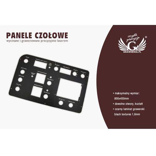 Panele czołowe do maszyn i urządzeń - black textures - grubość: 1,6mm marki Grawernia.pl - grawerowanie i wycinanie laserem