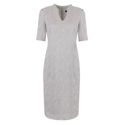 72d22a446c Sukienka ze strukturalnej tkaniny (Rozmiar  48