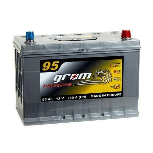 Akumulator GROM Premium 95Ah 780A Japan Prawy plus