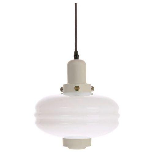 lampa wisząca rozmiar m białe szkło/kremowe akcenty vol5036 marki Hk living