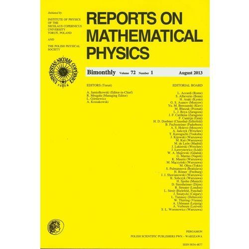Reports on Mathematical Physics 81/2 Pergamon