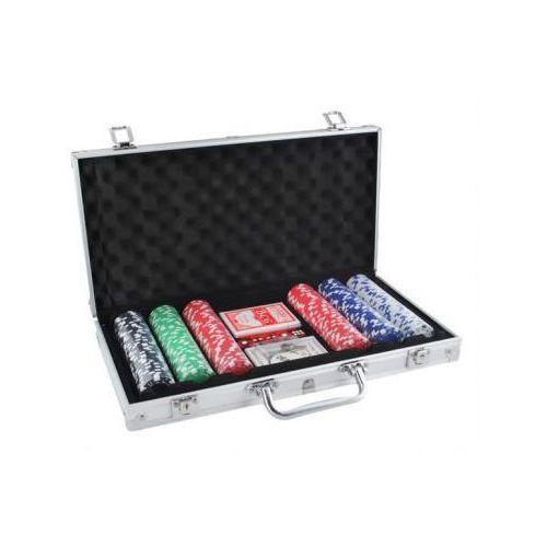Zestaw do Pokera...: 300 Żetonów + Kości + Karty + Kuferek..., 7899818120912