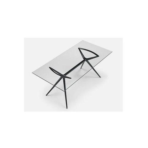 Stół Metropolis III transparentny nogi czarne Machina Meble 5313-400-7011-VN-001 - produkt dostępny w sfmeble.pl