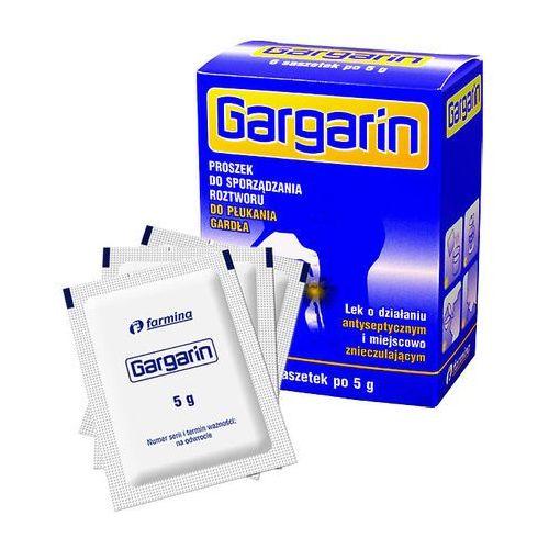 Gargarin, proszek do sporządzenia płynu do płukania gardła, 5 g, 6 saszetek - produkt farmaceutyczny