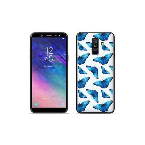 Etuo fantastic case - samsung galaxy a6 plus (2018) - etui na telefon fantastic case - niebieskie motyle marki Etuo.pl