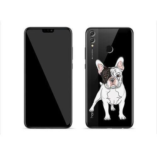 Huawei Honor 8X - etui na telefon Crystal Design - Mops
