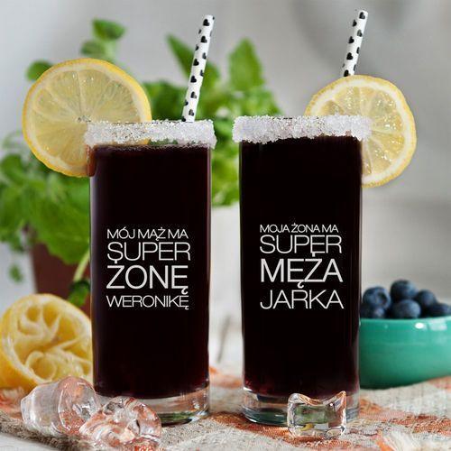 Mygiftdna Super mąż i żona - dwie grawerowane szklanki - szklanki