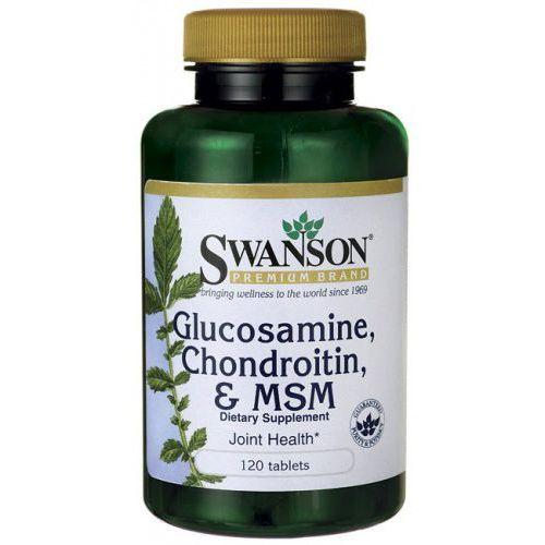 Glukozamina, chondroityna i MSM 250/200/150mg 120 tabl (na osteoporozę)