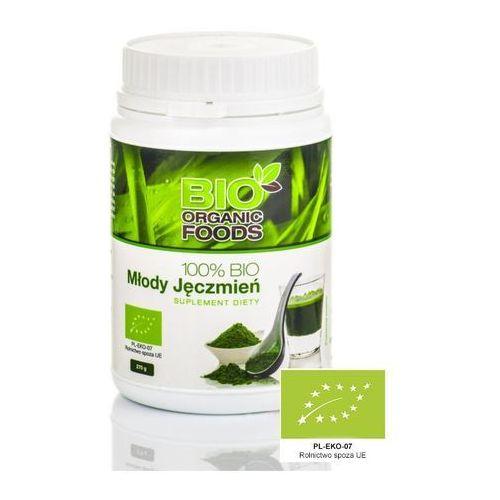 Młody zielony jęczmień 270g - ekstrakt 100% sok - marki Bio organic foods