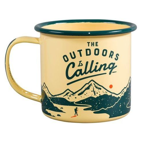 Kubek emaliowany dla podróżnika Outdoor is Calling